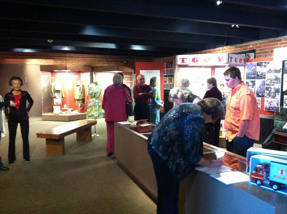Photo from grand opening of the TG&Y Exhibit.