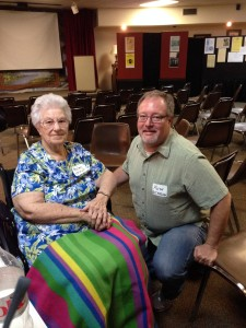 Helen Unruh and Keith Dickersson visiting at 2014 reunion